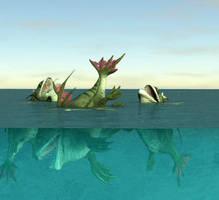 Mermaids by 3dcheapskate