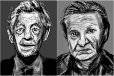 Actors portraits by PE-robukka