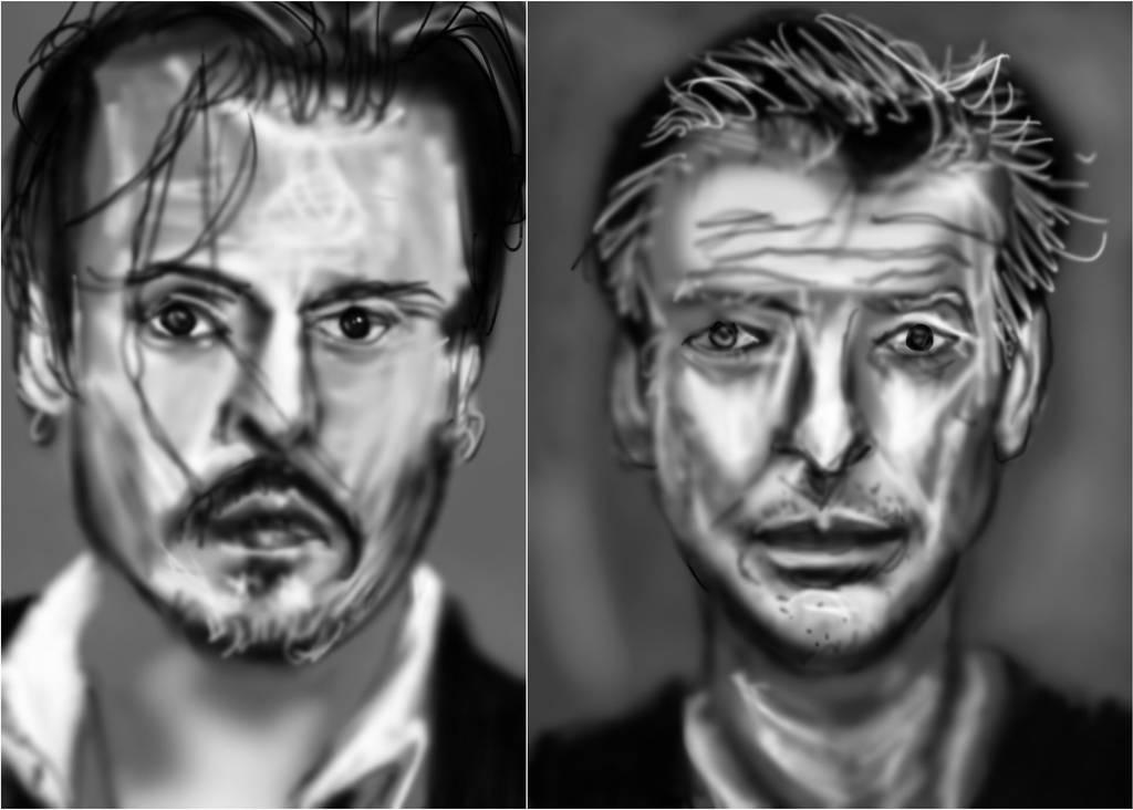 Sketching actors by PE-robukka