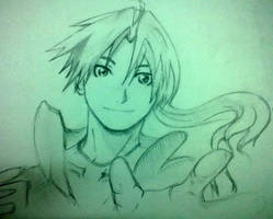 edward elric smiling by willowbythecreek