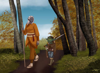 The Drow and The Goblin by thisnerddoodles