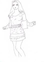 Lineart - Girl by 0illecebra0