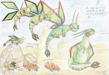 Flygon slow evolution by Werebudgie