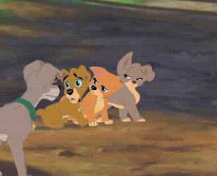 scamp et c'est trois enfants by kiarao2