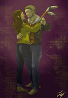 Casey Jones and April by rozalin-da