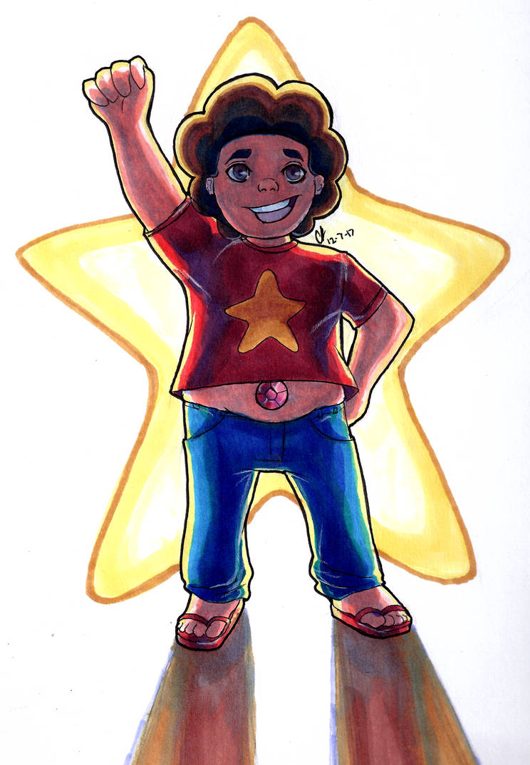 I have drawn a lot of Steven Universe Characters, but not Steven himself X.X So, I tried drawing him here. I wanted to try coloring with the lighting from behind instead of in the front... It was a...