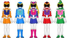 Sailor Rangers by Toshi-san