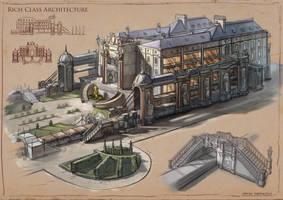 La Revolution. 1625. Rich Class Architecture by dsorokin755