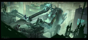 Cyberpunk. Mech Check Up by dsorokin755