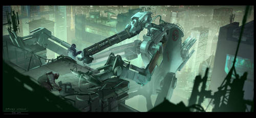Cyberpunk. Mech Check Up by dsorokin755