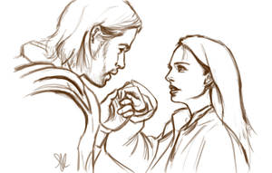Thor and Jane - WIP by ChristyTortland