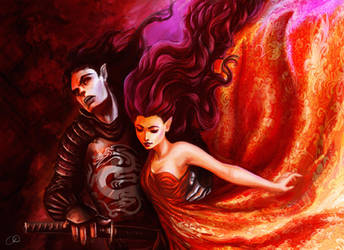 Hades and Persephone by ChristyTortland