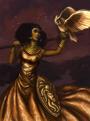 Athena, Goddess of Wisdom by ChristyTortland