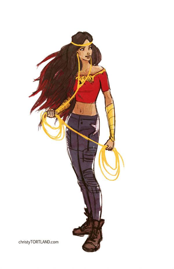 Teen Wonder Woman sketch by ChristyTortland
