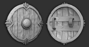 Battle Shield - Polycount Noob Challenge by Vasilesco