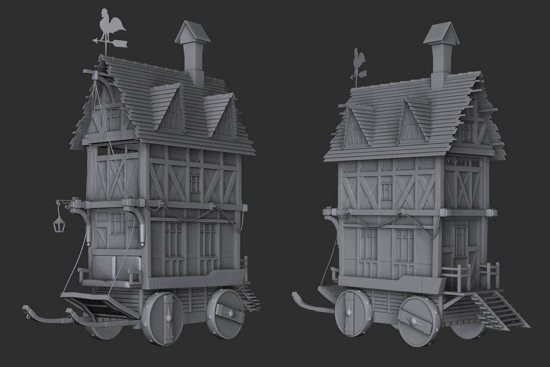 Old Tiny House by Vasilesco