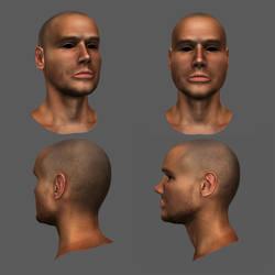 Head with texture - Zbrush Practice by Vasilesco
