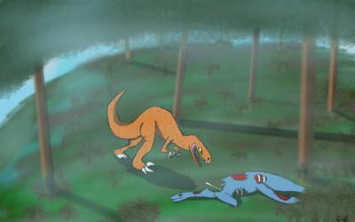 Random Dinosaur Drawing  by GigabyteDragon