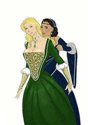 Cersei and Taena Merryweather by InTheArmsOfUndertow