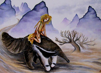 Ariza and the Giant Anteater by Etheroxyde