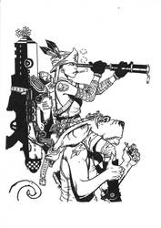 tank girl and booga lineart by madame-mollie