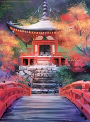 Daigo-ji Temple by Pegaite