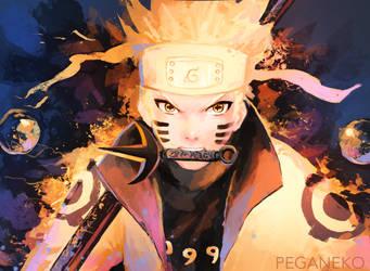Naruto Rokudourin by PegaNeko