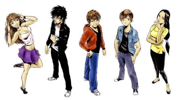 R.u.N. Main Characters Colored by Mangatellers