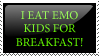 I EAT EMO-KIDS Stamp by ScarsOfFreedom