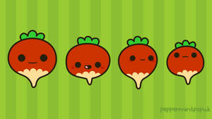 Cute radish wallpaper by peppermint-pop-uk