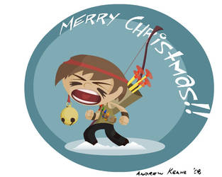 Christmas boy by Keaneye