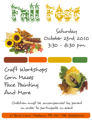Corel Draw Tutorials - Fall Fest Flyer by flyertutor on DeviantArt