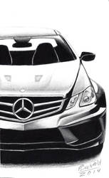 Mercedes Benz E63 AMG W207 Realistic Car Drawing by MaxBechtold