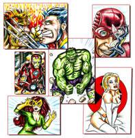 Marvel Sketch Cards by siebo7