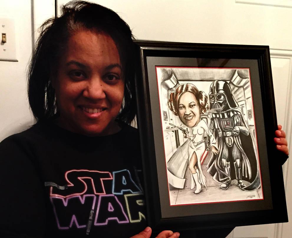 Star Wars Fan Caricature by siebo7