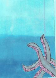 Kraken ACEO by sdragon1984