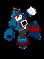 Boom Man (Mega Man Rock Force) by KarakatoDzo