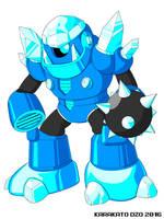 Cryo Man (Mega Man Revolution) by KarakatoDzo