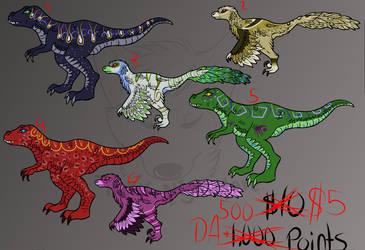 Dinosaur Adopts! HALF OFF by ToxicNightmare756