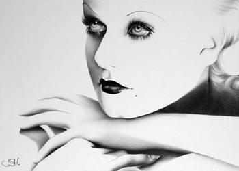 Jean Harlow Minimal by IleanaHunter