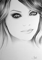 Emma Stone Commission by IleanaHunter