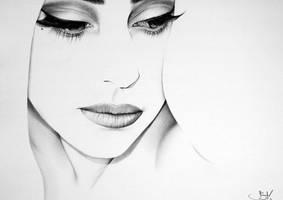 Lady Gaga Minimal Portrait by IleanaHunter