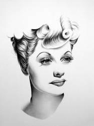 Lucille Ball Minimal Portrait by IleanaHunter