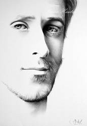 Ryan Gosling (semi minimal) Portrait by IleanaHunter