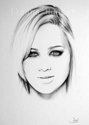 Jennifer Lawrence Minimal Portrait by IleanaHunter