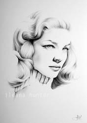 Lauren Bacall. Minimal Realism by IleanaHunter