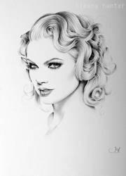 Taylor Swift Minimal Portrait by IleanaHunter