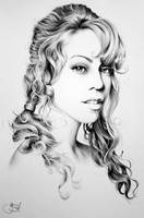 Mariah Carey Minimal Portrait by IleanaHunter