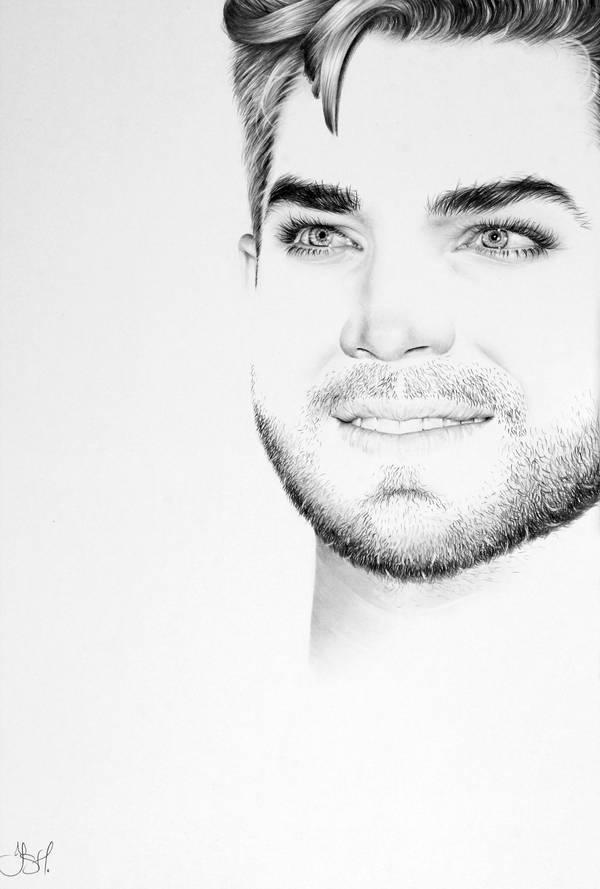 Adam Lambert Commission by IleanaHunter
