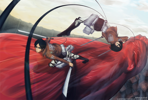 Attack on Titan by Gofelem